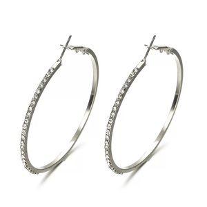 Jewelry - Favorite Pair Rhinestone Hoop Earrings